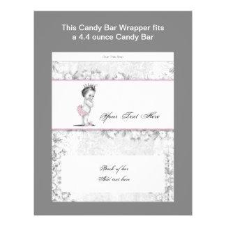 Envoltura rosada de la barra de caramelo de la pri tarjeta publicitaria