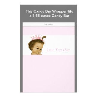 """Envoltura rosada de la barra de caramelo de la pri folleto 5.5"""" x 8.5"""""""