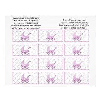 Envolturas de Candybar del cochecillo de bebé Lav Tarjetones