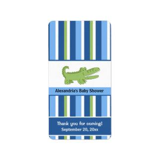 Envolturas de caramelo miniatura del cocodrilo - etiquetas de dirección