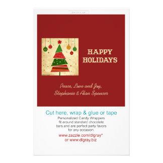 Envolturas de caramelo rojas del estilo del vintag tarjetas publicitarias