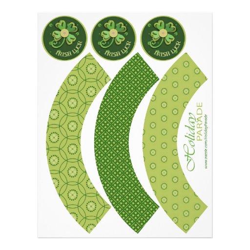 Envolturas de la magdalena de la buena suerte tarjetas informativas