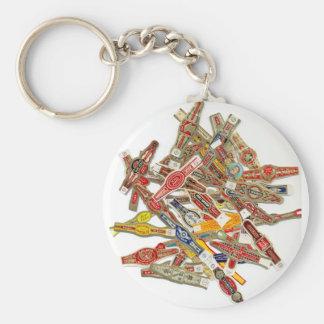 Envolturas del anillo del cigarro llavero redondo tipo pin