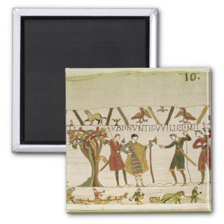 Envoys from Duke William are Sent to Count Guy 2 Inch Square Magnet