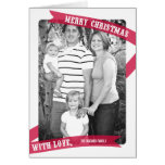 Envuelto con la tarjeta de la foto del navidad del