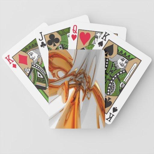 Envuelto en oro y plata barajas de cartas