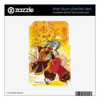 Envuelto en piel del tacto de Asia iPod Skins Para iPod Touch 2G
