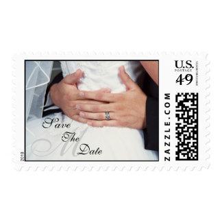 Envuelto en reserva del monograma del amor el sello postal