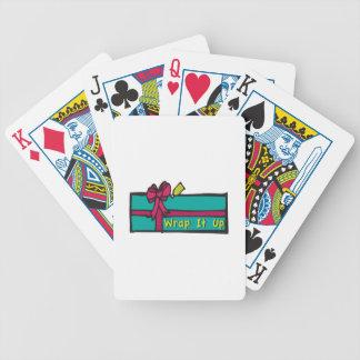 Envuelva un regalo baraja cartas de poker