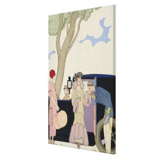 Envy, 1914 (impresión del pochoir) impresiones de lienzo