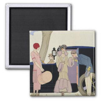 Envy, 1914 (pochoir print) 2 inch square magnet