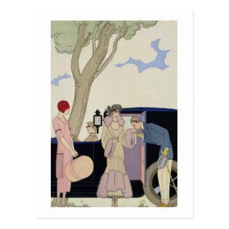 Envy, 1914 (pochoir print) post card