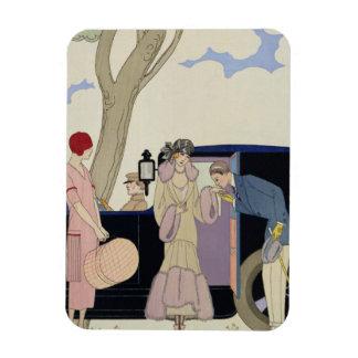 Envy, 1914 (pochoir print) rectangular photo magnet