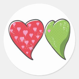 Envy Heart Stickers