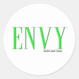 Envy Logo Classic Round Sticker