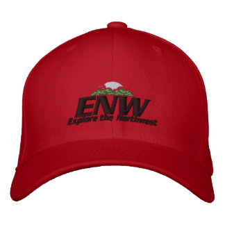 ENW Hat Red Embroidered Baseball Cap