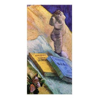 Enyese la figurilla un color de rosa y las novela tarjetas fotograficas