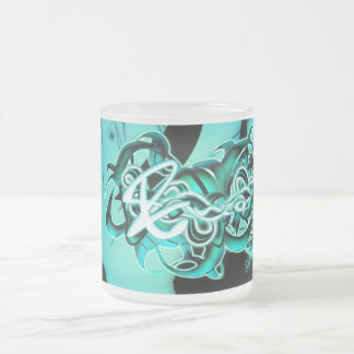 Enzo Frosted Glass Coffee Mug