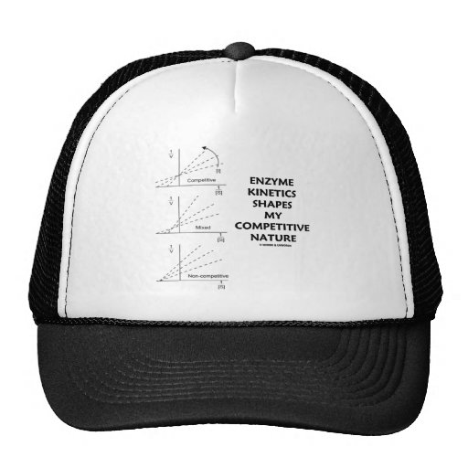 Enzyme Kinetics Shapes My Competitive Nature Mesh Hats
