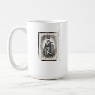 Eo general Jae-yeon y taza de café de la bandera d