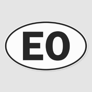 EO Oval Identity Sign Oval Stickers
