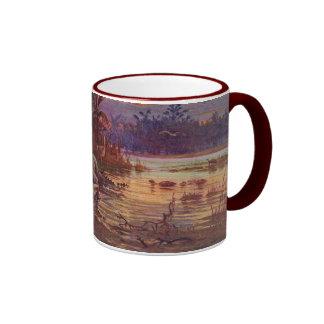 Eocene Prehistoric Animals Antique Print Ringer Mug