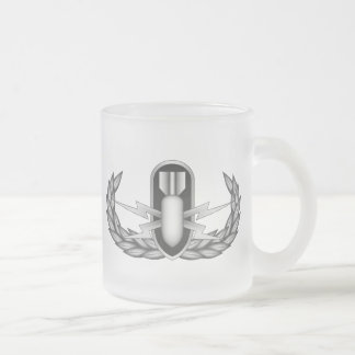 EOD_Badge_Basic_Silver 10 Oz Frosted Glass Coffee Mug