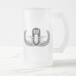 EOD_Badge_Basic_Silver Frosted Glass Beer Mug