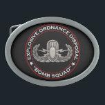 "EOD &quot;Bomb Squad&quot; Belt Buckle<br><div class=""desc"">Original photo of an EOD badge on black with Explosive Ordnance Disposal &quot;Bomb Squad&quot; around</div>"