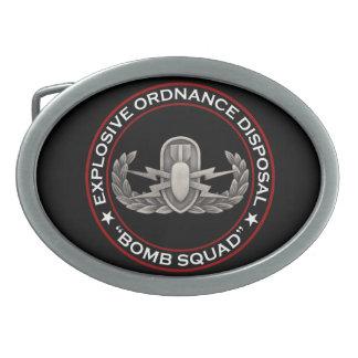 "EOD ""Bomb Squad"" Belt Buckle"