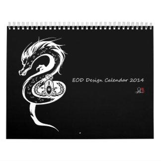EOD Bomb Squad Calender 2014  Illustrated by Saju Calendar