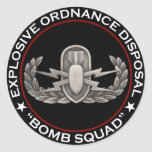 "EOD ""Bomb Squad"" Classic Round Sticker"