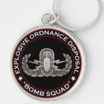 """EOD """"Bomb Squad"""" Key Chain"""