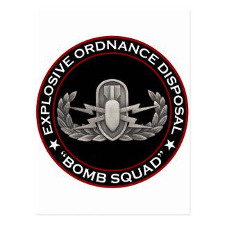 """EOD """"Bomb Squad"""" Postcard"""