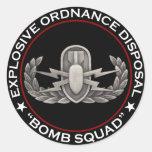 "EOD ""Bomb Squad"" Round Sticker"