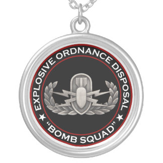 """EOD """"Bomb Squad"""" Silver Plated Necklace"""