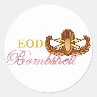 EOD Bombshell Classic Round Sticker