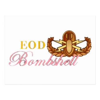 EOD Bombshell Postcard