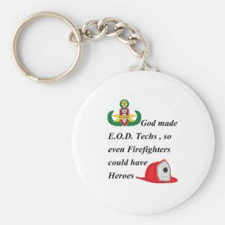 EOD - Firefighter Heroes Keychain