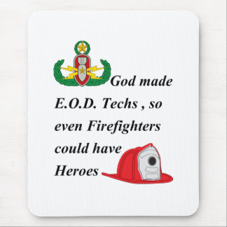 EOD - Firefighter Heroes Mouse Pad