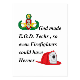 EOD - Firefighter Heroes Postcard