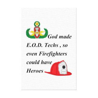 EOD - Héroes del bombero Impresión En Lona