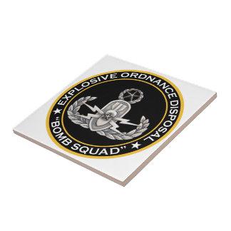 EOD Master Bomb Squad Ceramic Tile