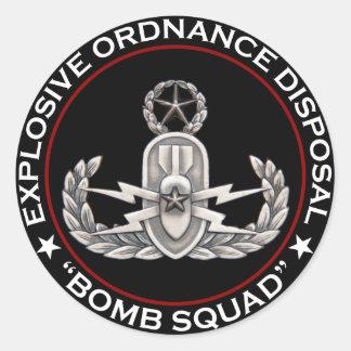 "EOD Master ""Bomb Squad"" Classic Round Sticker"