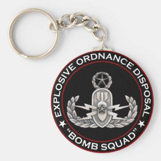 """EOD Master """"Bomb Squad"""" Keychain"""