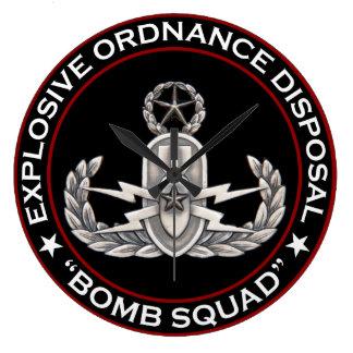 "EOD Master ""Bomb Squad"" Wallclock"