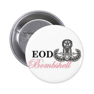 eod master bombshell pinback buttons