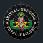 "EOD Master in color ISTF Dartboard With Darts<br><div class=""desc"">EOD Master badge in color with Initial Success - Total Failure.  Background color can be changed (depending on product type) and image can be resized/moved by using customize button.</div>"
