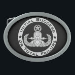 """EOD Master ISoTF Belt Buckle<br><div class=""""desc"""">EOD Master badge with Initial Success or Total Failure.  Background color can be changed (depending on product type) and image can be resized/moved by using customize button.</div>"""
