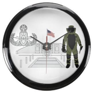 EOD Master Memorial Bomb Suituit Aqua Clock